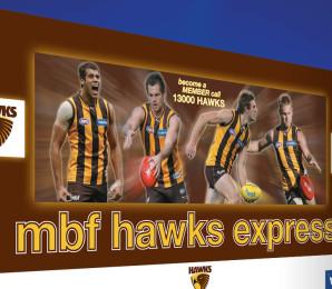 Hawthorn Hawks Merchandise Van Design
