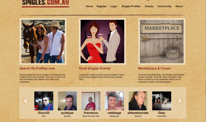 Oz Country Singles – Website Success