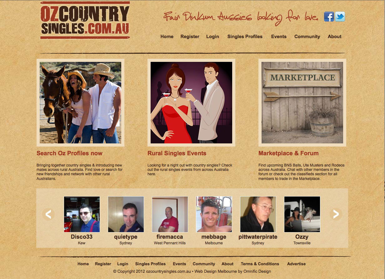 Oz Country Singles - Website Success