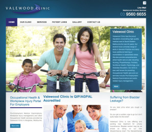 Valewood Clinic Website