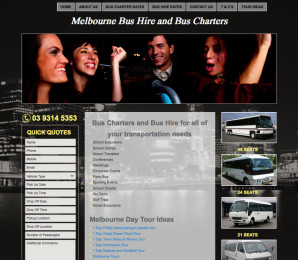 Melbourne Bus Charters Website